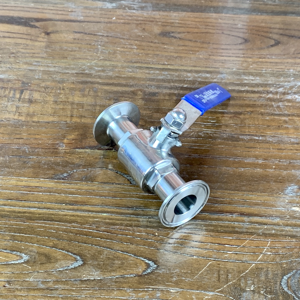 "Clamp 1.5""  Ball Valve 3/4""(19mm) OD50.5mm   Sanitary Steel 304"