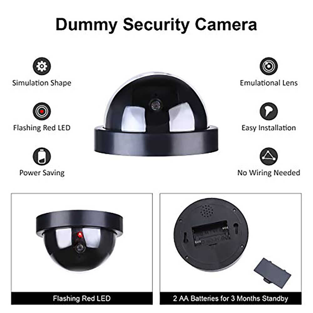 EZ4U Dummy 'S Nep Camera Cctv Dome Fake Imitatie Simulatie Camera Monitor Met Knipperende Led Verlichting