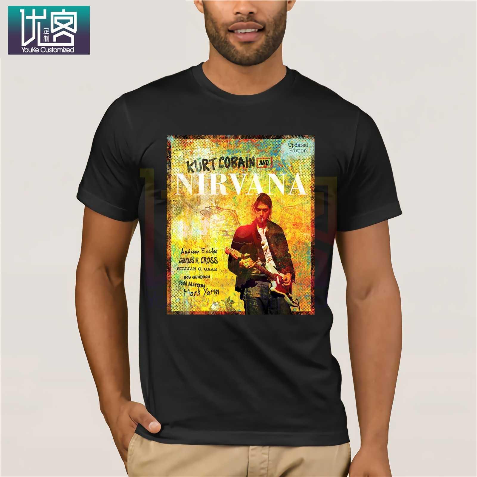 Крутая футболка Курт Кобейн Нирвана популярная футболки из 100% хлопка с круглым