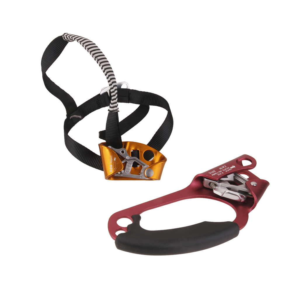 2pcs Right Hand & Foot Ascenders For Trees Climb Ascension Rope Clamp Climbing Accessories