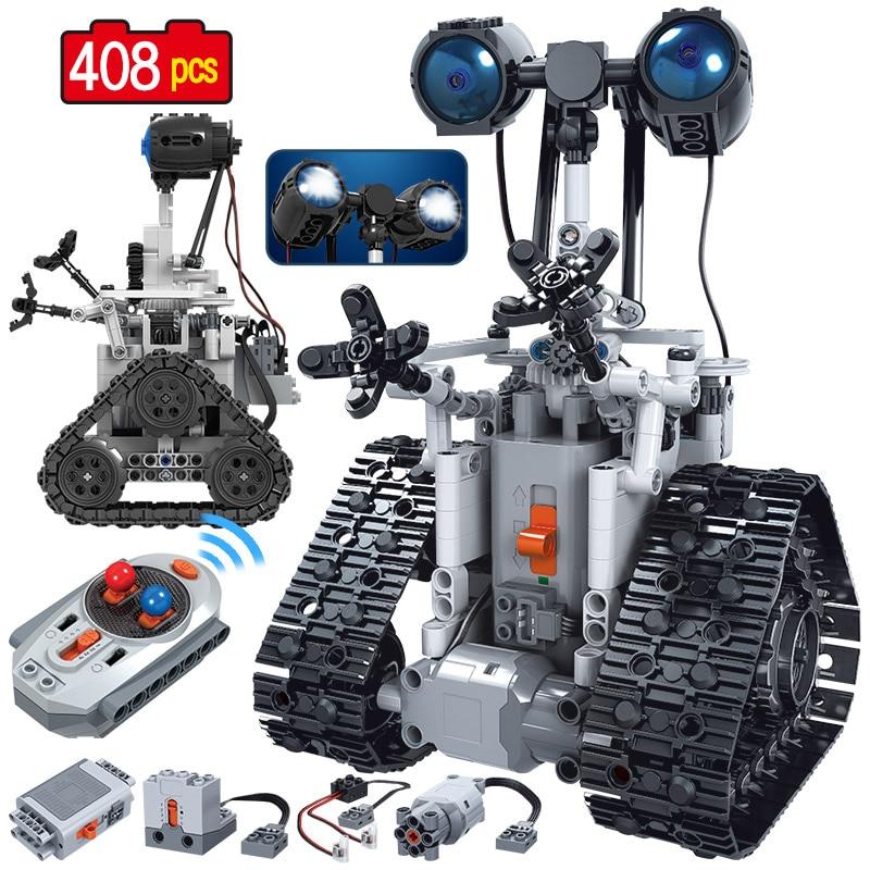 408 шт. умный робот с дистанционным управлением, строительные блоки, техника, RC электрический робот, кирпичи, подарки, игрушки для мальчиков