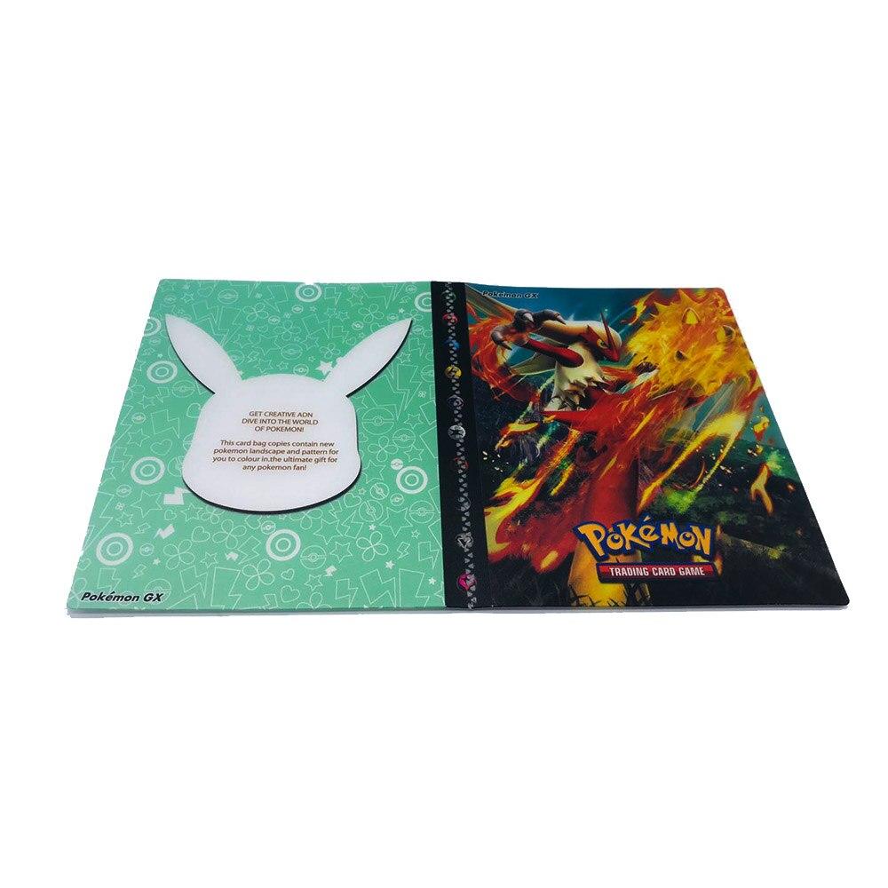 240 шт. держатель Альбом игрушки коллекции Pokemones карты Альбом Книга Топ загруженный список игрушки подарок для детей - Цвет: 7