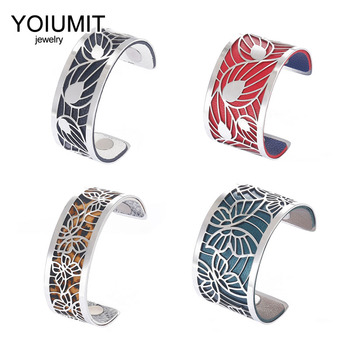 Cremo DIY Fashion Love Cuff Bracelets For Women Stainless Steel Bracelet Manchette Interchangeable Leather Jonc Argent Pulseiras