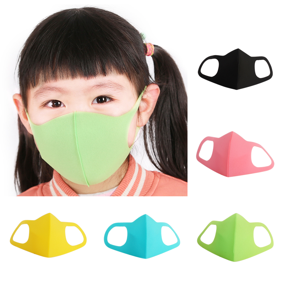 3Pcs/Set Mouth Mask For 6-13 Years Kids Children Anti Pollution Mask PM2.5 Air Dust Face Masks Washable And Reusable Mouth Cover