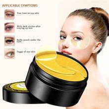 60pcs Gold Eye Mask Dark Circle Remove Wrinkle Whitening Anti Aging/Dark Circles/Puffiness Moisturizing Eye Masks remove eye bag