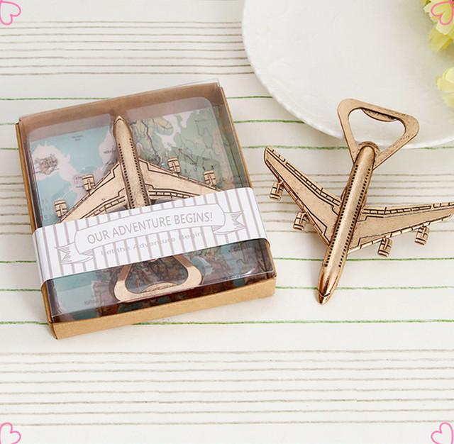 Caliente 1 pieza avión antiguo abrebotellas recuerdos de boda y regalos para los huéspedes recuerdos de boda suministros para fiestas de cumpleaños de niños