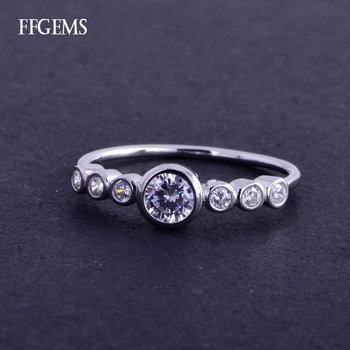 FFGems Real 10K Gold Ring Sterling Diamond 0.7ct EF Color Si Fine Jewelry For Women Lady Engagement Wedding Party Gift image