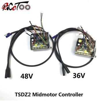 RICETOO Electric Bicycle Tongsheng TSDZ2  Replace 250/350/500W Mid Drive Motor Inner 36/48V Controller foe E-bike Conversion Kit