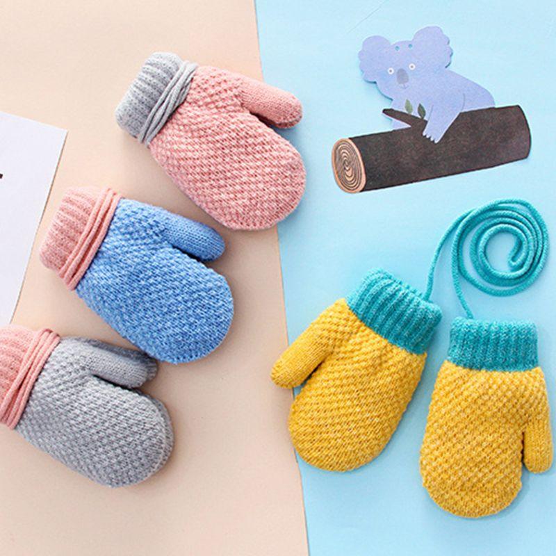 Cute Children Kids Gloves Fashion Baby Girls Boys Winter Thicken Warm Mittens