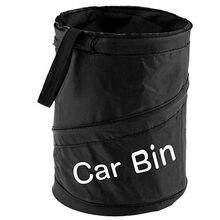 Lata de lixo do carro portátil bin de lixo dobrável pop-up saco à prova dwaste água cesta de resíduos