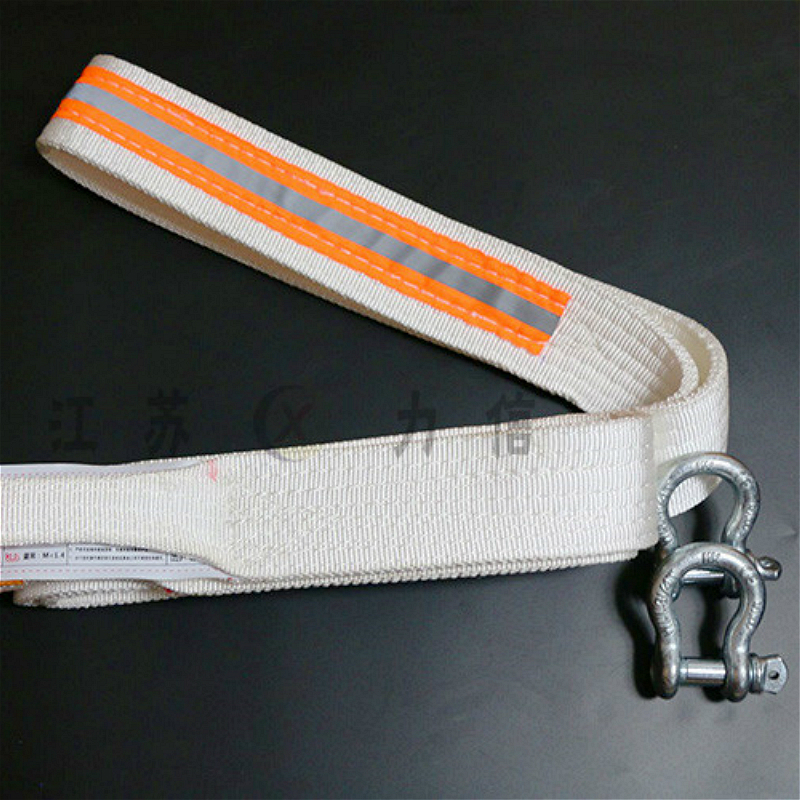 5t 4m High Tensile Double Buckle Flat Webbing Sling Endless Industrial Lifting Chain Sling Polypropylene Fiber Strap Winch