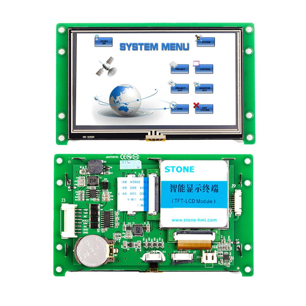 4.3 Inch TFT LCD Display Module With Controller Board+Program+Touch Monitor+UART Serial Interface
