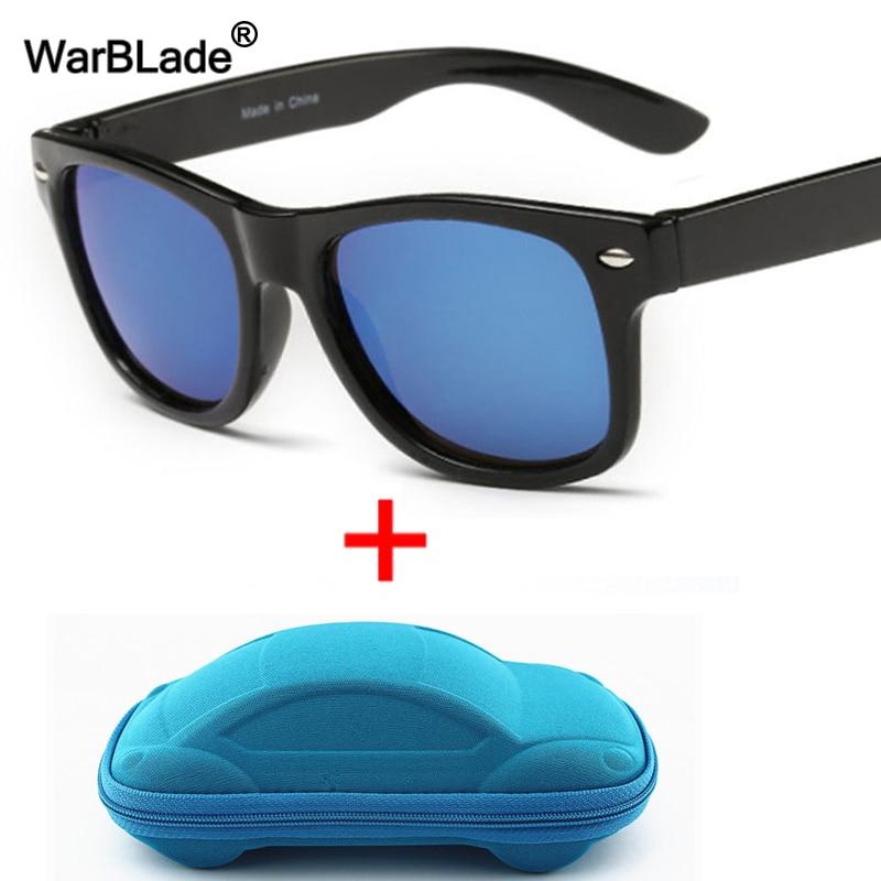 WarBLade Cool Kids Sunglasses Children Anti-uv Sun Glasses Boys Girls Baby Eyeglasses Coating Lens UV 400 Protection With Case
