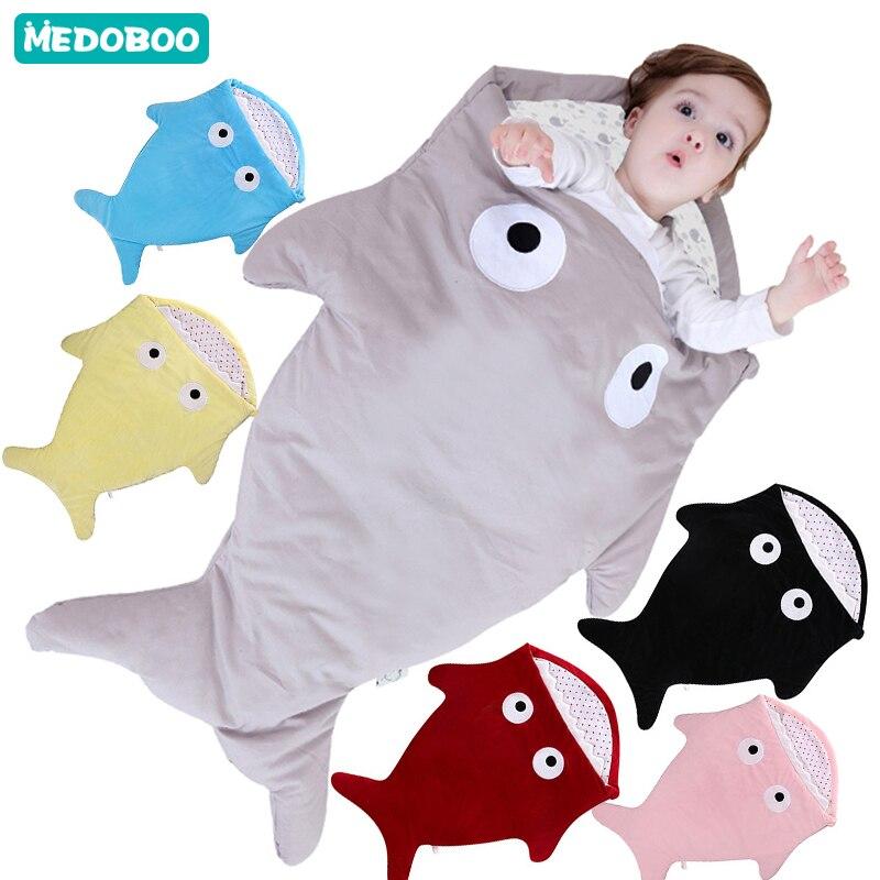 Medoboo Cocoon Newborns Envelope For Discharge Baby Shark Sleeping Bag In Stroller Maternity Hospital Discharge Kit Hunters