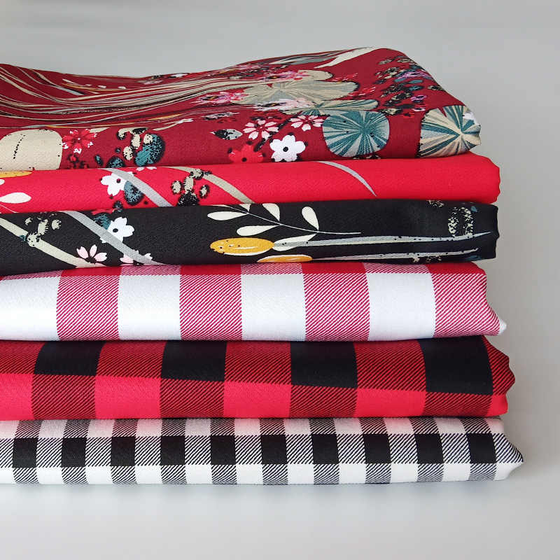 HLQON raso di cotone multi modelli di tessuto per le donne cucire abbigliamento tessuto tappezzeria abito da sposa patchwork FAI DA TE