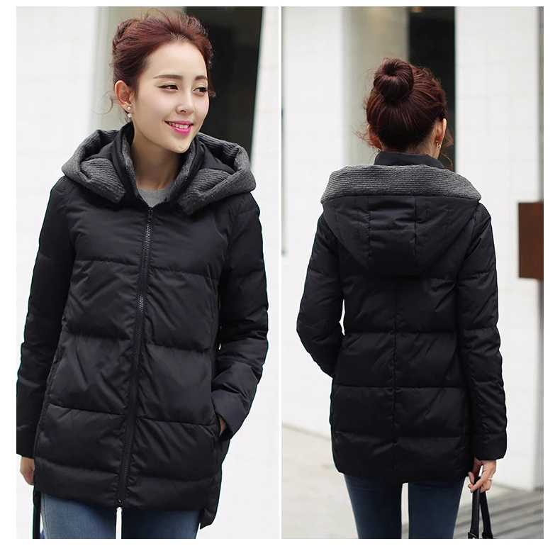 New Fashion 2020 Winter Autumn Women Jacket And Coat Short Hooded Ladies' Duck Down Jacket Plus Size 2XL Outwear LX1004