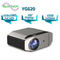 BowTeCH New Flagship Projector YG620 Full HD LED 1920x1080P Home Theatre 6500 lumens Beamer 3D Proyector HDMI WiFi Multi-Screen