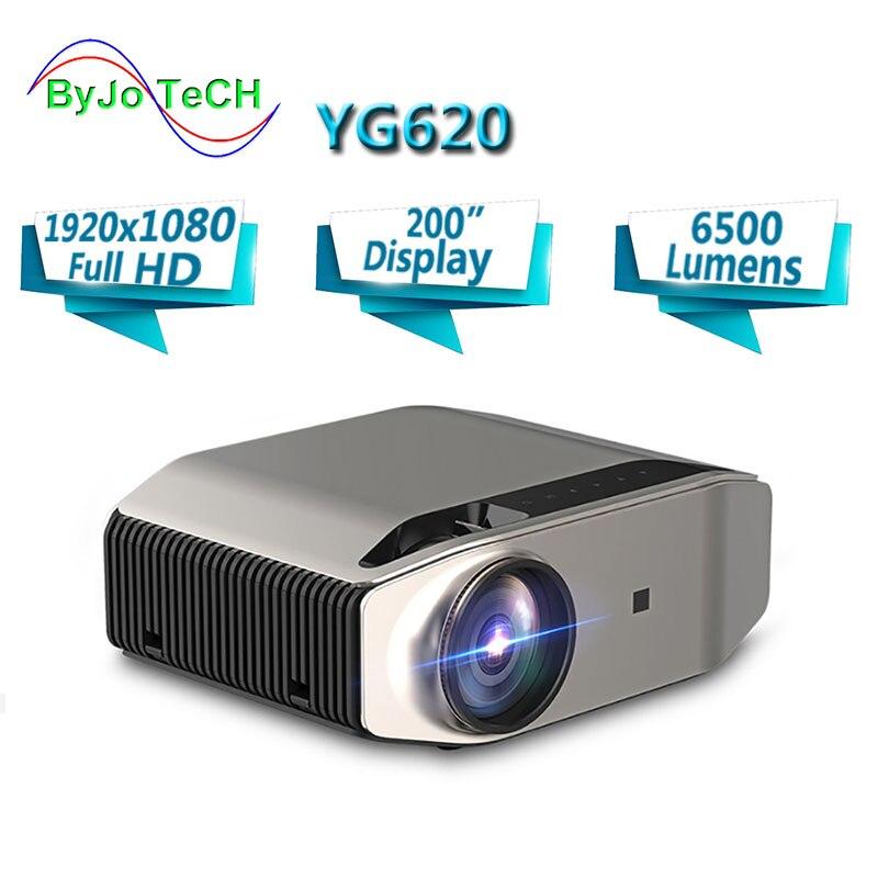 BowTeCH nouveau projecteur phare YG620 LED full hd 1920x1080P Home cinéma 6500 lumens projecteur 3D Proyector HDMI WiFi multi-écran