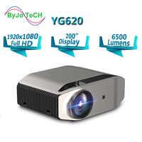 BowTeCH nuevo buque insignia de Proyector YG620 Full HD LED 1920x1080P casa teatro 6500 lumens Beamer 3D Proyector HDMI WiFi Multi-pantalla