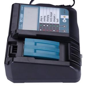 Image 2 - Reemplazo del cargador para el cargador Mikita 14,4/18V DC18RC/DC18RF 3.5A interfaz USB LCD Pantalla de carga rápida EU/US/UK adaptador de enchufe