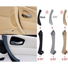 Внутренняя ручка для салона автомобиля, панель двери, Натяжная накладка, серый, бежевый, черный, левый и правый для BMW 3 серии E90 E91 316 318 320 325 328