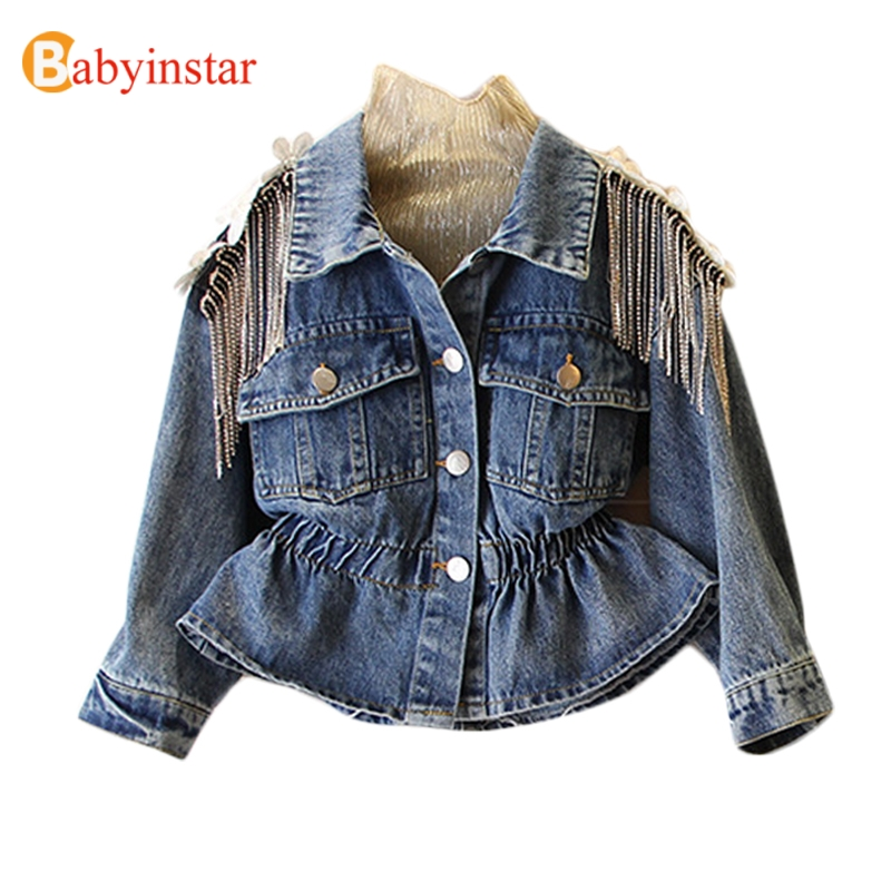 NEW 2020 KId's Jean Jacket for Girls Cute Unicorn Coats Denim Jacket for Children Girls Clothes Jean Jackets For Toddler & Kids 1