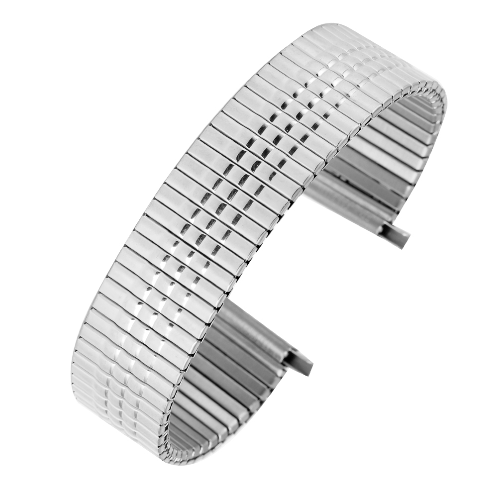Premium Elastic Watch Strap 16MM Stainless Steel Watchband 18MM No Buckle Metal Replacement 20MM Wristwatch Band 22MM Bracelet