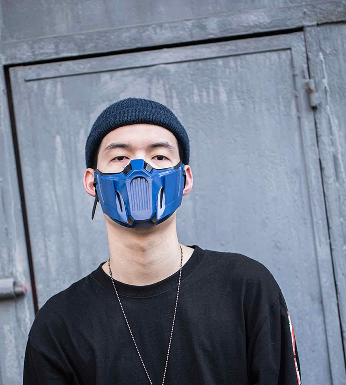 Coslive Mortal Kombat 11 Sub Zero Mask Full Head Resin Helmet