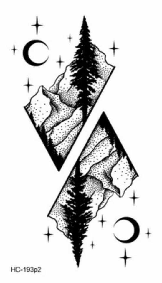 Tatuagem falsa temporária em floresta rosa 1 peça, à prova d'água, tattoo flash, para mulheres sexy