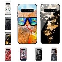 For Samsung Galaxy S7 edge S8 S8 Plus S9 S9 Plus Case Tempered Glass Patterned For Samsung Galaxy S10 S10e S10 5G S10 Plus Cover adko ultra thin hard pc case for samsung galaxy s8 s9 plus colorful cute matte cover for samsung galaxy s10 plus s10e s10 5g