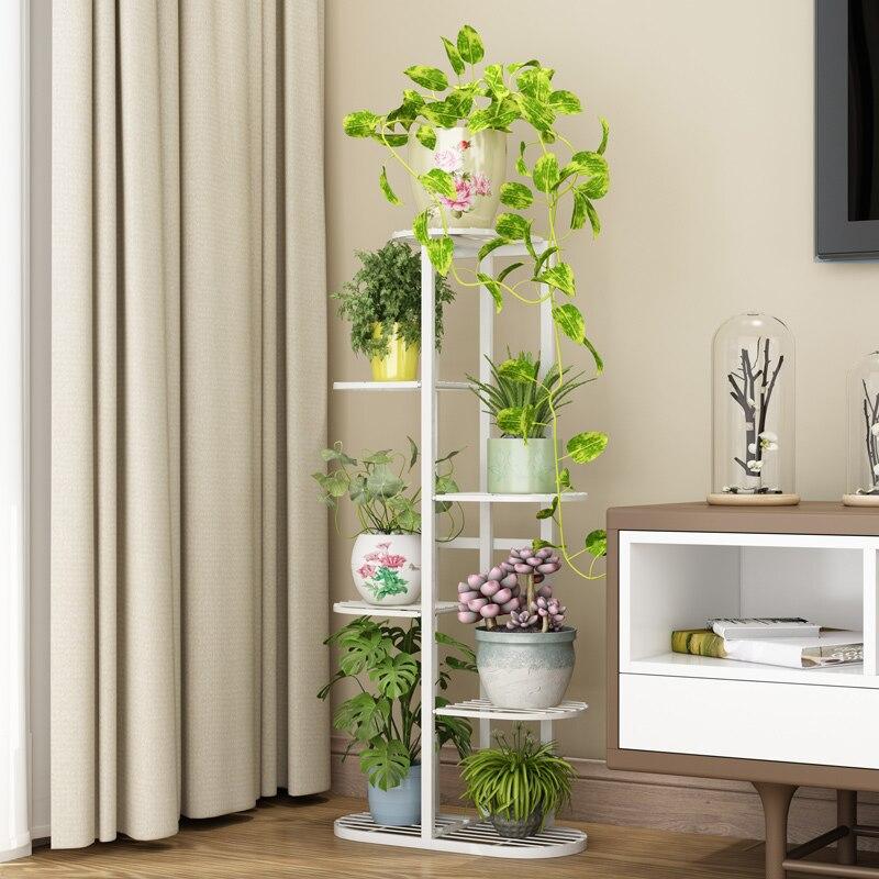 Blume Regal Multi-schicht Haushalt Regal Schmiedeeisen Wohnzimmer Blumentopf Grün Rettich Dick Multi-schicht Blume Stehen