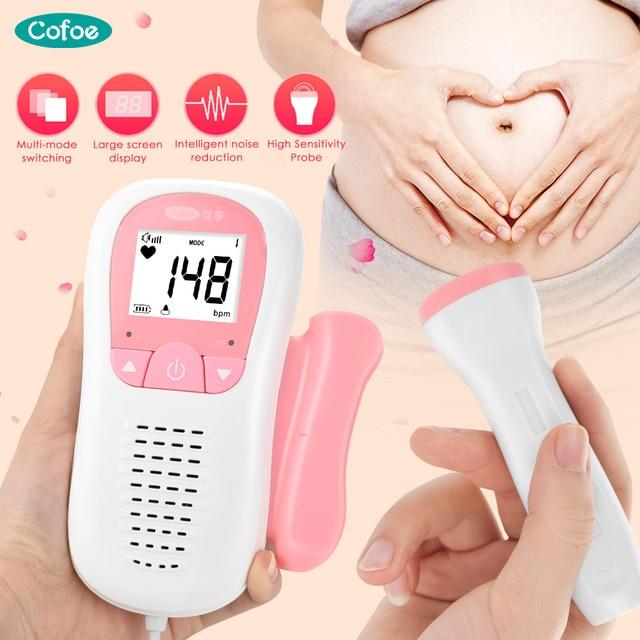 Cofoe الجنين دوبلر رصد الموجات فوق الصوتية الطفل الصوت ضربات القلب كاشف الحوامل جهاز مراقبة الجنين المحمولة جيب الصحة مراقبة الطفل
