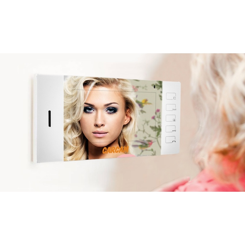 Compact Video Intercom CARCAM DW-613 With Display 4.3 ''and The Ability To Control 2 Locks