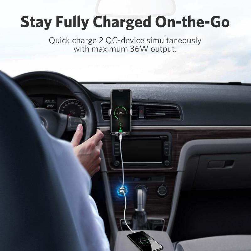 Ugreen Pengisian Cepat 3.0 36 W QC Charger Mobil untuk Samsung S10 9 - Aksesori dan suku cadang ponsel - Foto 3