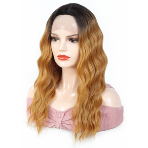 Image 4 - Lace Front Synthetic Hair Wigs Middle Part 99J Red Color X TRESS 20inch Long Soft Natural Wave Trendy Lace Wig For Black Women