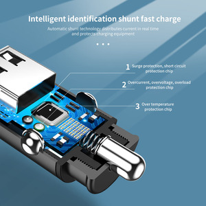 Автомобильное зарядное устройство Marjay Mini USB, QC 3,0, для iPhone 7 X XR, быстрая зарядка, для Samsung A50, 1 порт, адаптер зарядного устройства в автомобиле