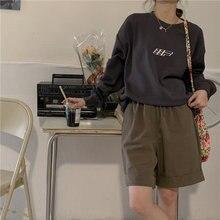 Женская Повседневная Толстовка 2020 корейский винтажный пуловер