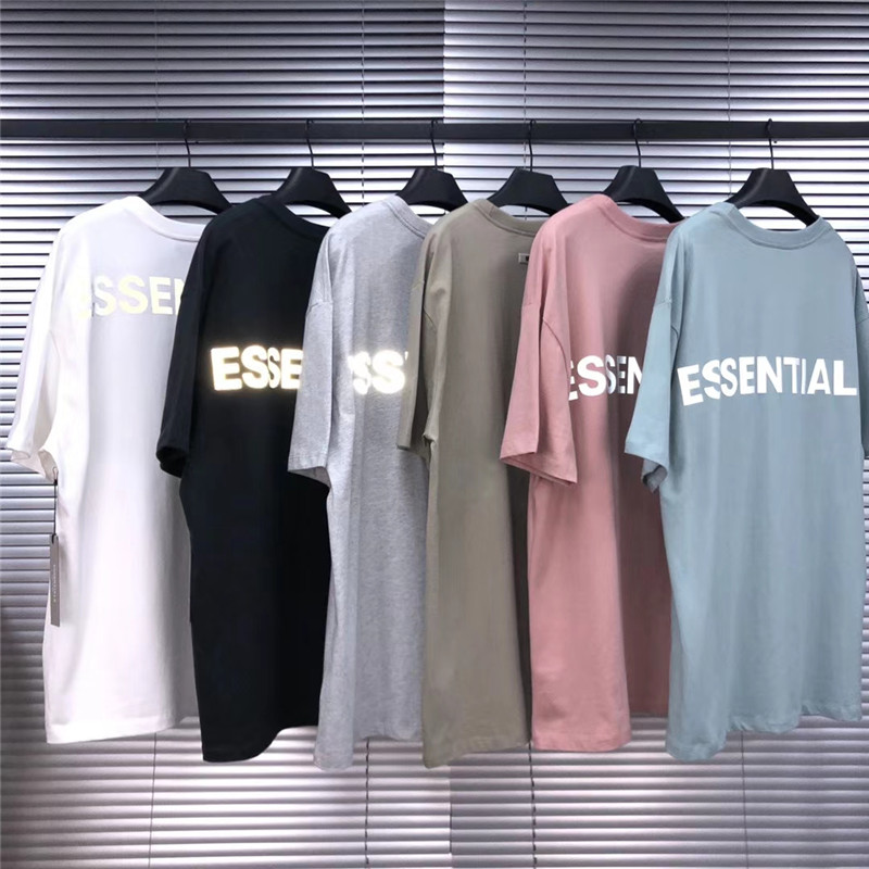 Thick Fabric 3M Reflective FOG Essentials T Shirts Men Women 1:1 High-Quality Top Tee Oversized Kanye West T-Shirts
