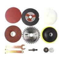8 teile/satz Kit Metall Umwandlung Schaft Holzbearbeitung Zubehör Für Funktion Werkzeuge Bohrmaschine Ändern Zu Winkel Grinder Cutter