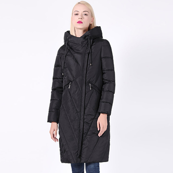 winter parka women m 4xl plus size khaki red black jacket 2019 new korean long sleeve standing collar slim warmth clothing jd521 2020 New Collection Women Coat Plus Size Long Windproof Collar Women Parka Very Stylish Hooded Thick Women's Winter Jacket