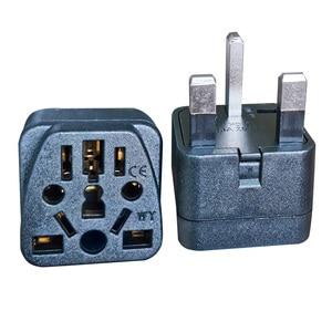 "Image 5 - בריטניה תקע מתאם חשמל תקעים בינלאומי AC שקע חשמל ממיר 13A 250V כדי האיחוד האירופי אירופאי ארה""ב AU Plug מתאם"
