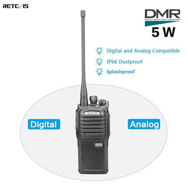 5W Retevis RT54 DMR Digital/Analog Two WAY วิทยุแบบพกพาเครื่องรับส่งสัญญาณ UHF กันฝุ่นกันน้ำ VOX TOT ดิจิตอล Walkie  Talkie