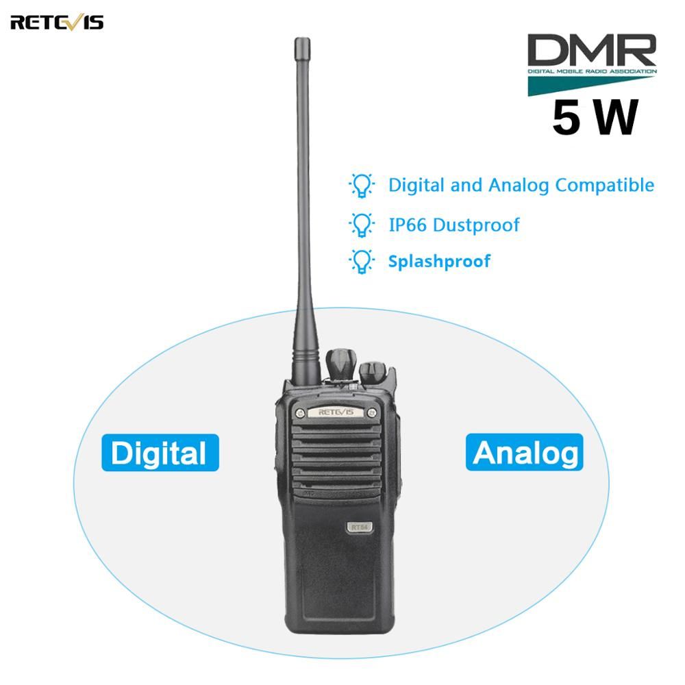 5W Retevis RT54 DMR Digital/Analog Two Way Radio Portable Transceiver UHF Dustproof Waterproof  VOX TOT Digital Walkie-Talkie
