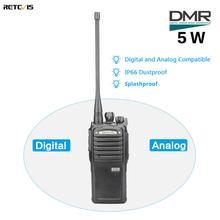 Retevis transceptor portátil de Radio bidireccional Digital/analógico RT54 DMR, 5W, UHF, a prueba de polvo, impermeable, VOX TOT, walkie talkie Digital