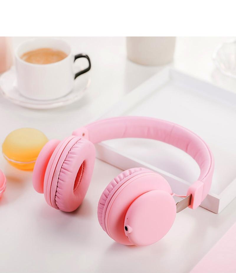 Fashion Pink Rose Gold Wireless Bluetooth Headphones Cute Headset With Microphone Bluetooth On Ear Headphone For Women Girl Kids Bluetooth Earphones Headphones Aliexpress