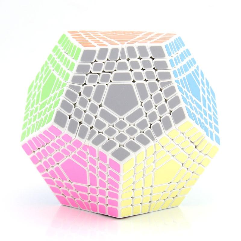SS 7x7x7 Megaminx professionnel Magicco Cube vitesse Cubes Puzzle néo Cube Cubo Magico autocollant adulte Anti-stress jouets pour enfants