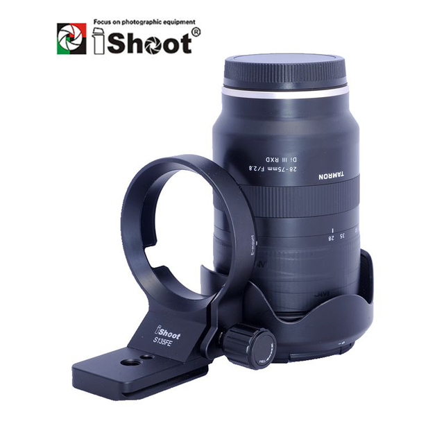 iShoot Lens Collar for Tamron 28 75mm F2.8 Di III RXD and Tamron 17 28mm F2.8 70 180mm Tripod Mount Ring Lens Adapter IS S135FE