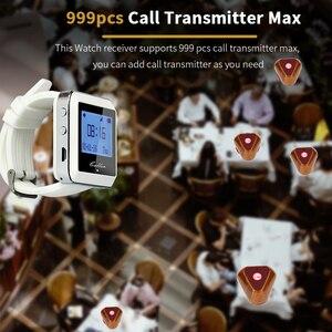 Image 2 - Retekess אלחוטי קורא מערכת שעון מקלט + 10 שיחת כפתור הביפר מסעדה ציוד עבור מהיר מזון משרד קפה F3288B