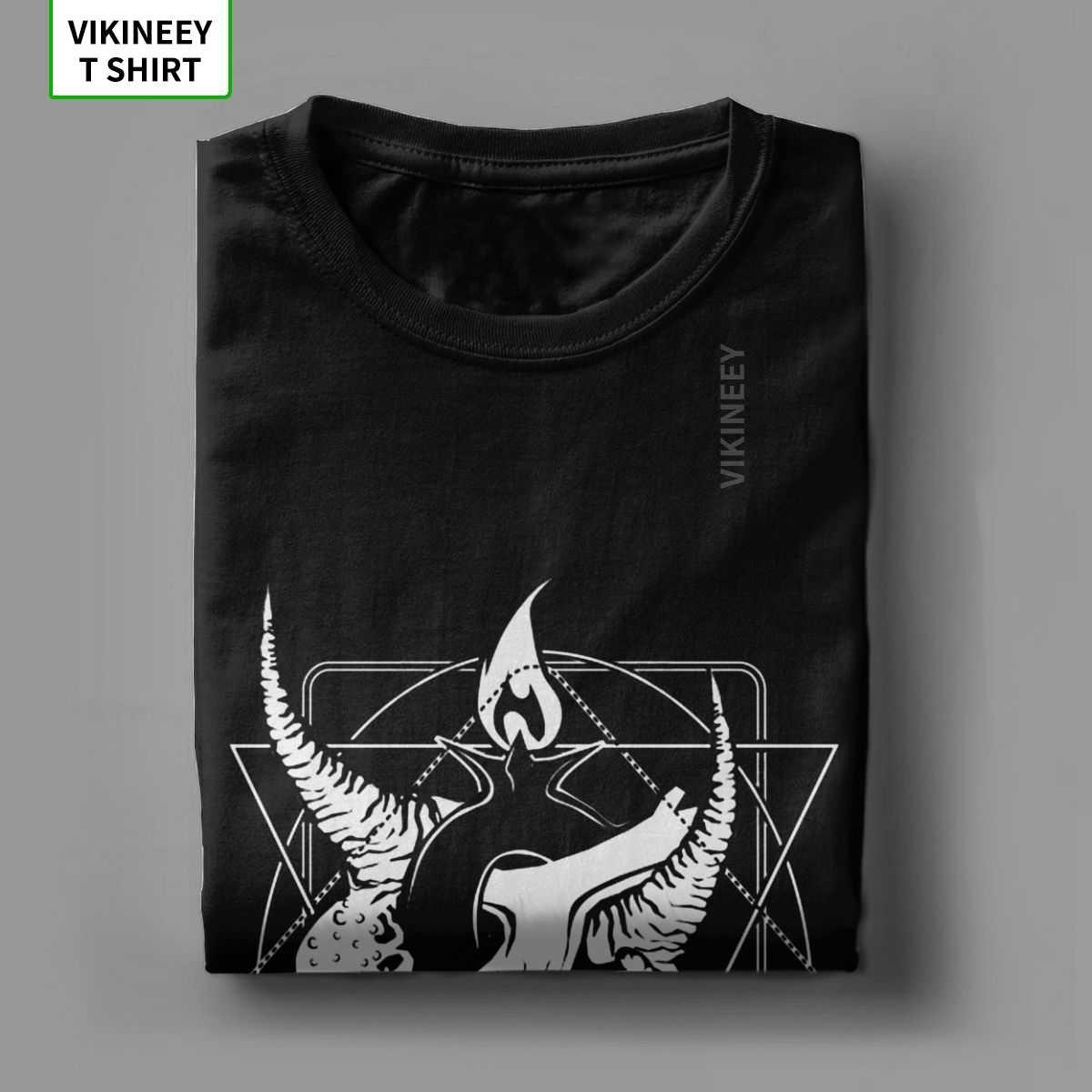 Uomini Baphoheart Satana Ti Ama T Camicia Satanico Dark Devil Inferno Demone Del Cranio Del Cotone Divertente Personalizza Magliette Nuovo Arrivo T-Shirt