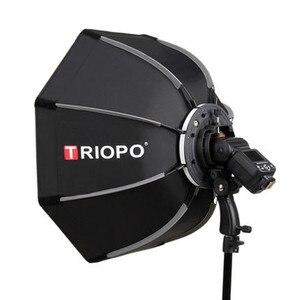 Image 2 - TRIOPO 65cm składany Octagon Softbox uchwyt do montażu Softbox uchwyt + siatka o strukturze plastra miodu + 2m lekki statyw dla Godox lampa błyskowa Speedlite flash